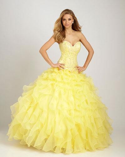 Originales vestidos de 15 años color amarillo