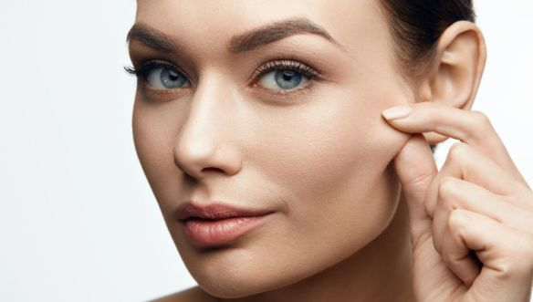 Healthy Skin. Beautiful Woman With Beauty Face.